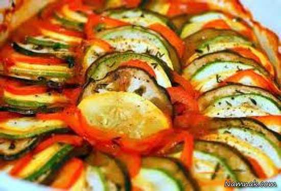 طرز تهیه رتتویی غذای فرانسوی +عکس