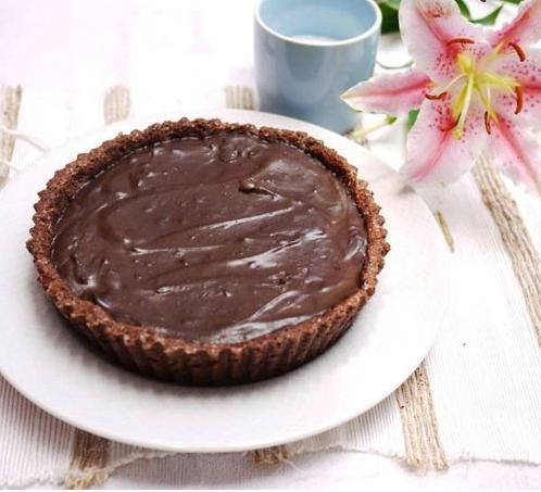 پای خامه-کارامل شکلاتی بسیار خوشمزه +عکس