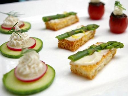 غذای انگشتی کاناپه سبزیجات، مناسب مهمانی ها +عکس