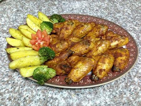 بال مرغ کبابى به سبک مالزى! +عکس