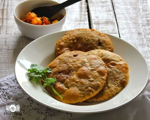طرز تهیه نان پرشده با نخودسبز(نان هندی لذیذ)+عکس