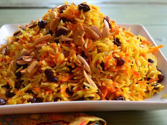 هویج پلوی اصیلِ شیرازی خوشمزه و قدیمی +عکس