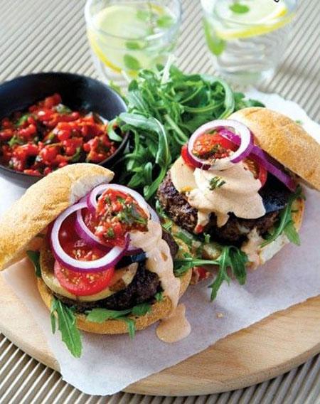 همبرگر سالمِ مامان پَز +عکس