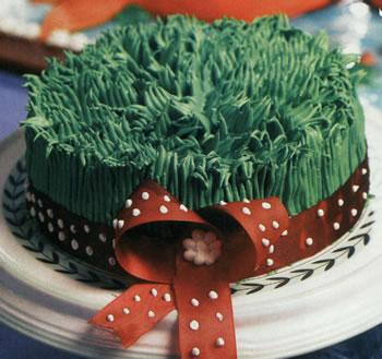 کیک اسفنجی به شکل سبزه هفت سین +عکس