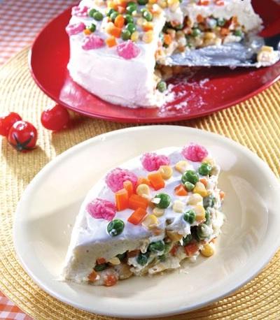 کیک سیب زمینی و سبزیجات ، یک عصرانه سبک و دلچسب!+عکس