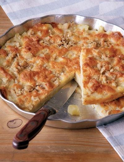 پیتزا مرغ و سیب زمینی بدون خمیر، مناسب مهمانی عصرانه!+عکس