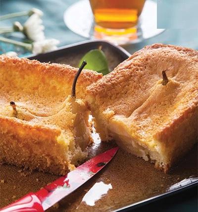 خوش طعم ترین کیک با گلابی درسته!+عکس