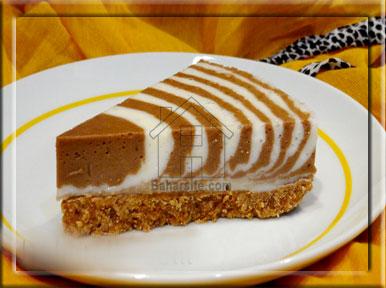 چیز کیک خوشمزه و آسون با طرح زبرا! +عکس