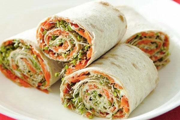 ساندویچ سریع و ساده مارپیچ سبزیجات +عکس