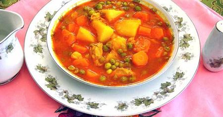 طرز تهیه خوراک نخود فرنگی سریع ساده و خوشمزه +عکس