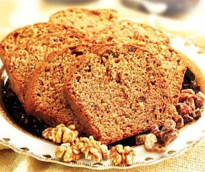 کیک فوری خرما و گردو بسیارلذیذ +عکس