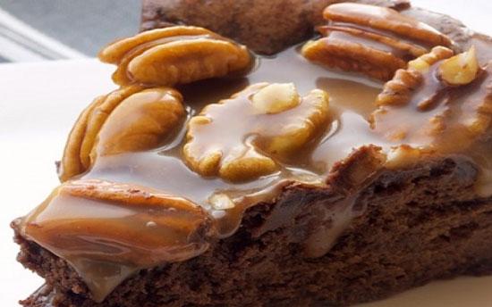 طرز تهیه چیز کیک شکلات و کارامل +عکس