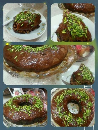 کیک خرمای متفاوت و لذیذ با سس کاراملی! +عکس