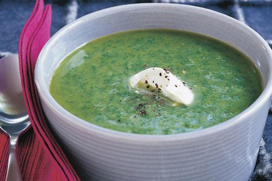 سوپ اسفناج و خامه، پیش غذای اسپانیایی +عکس