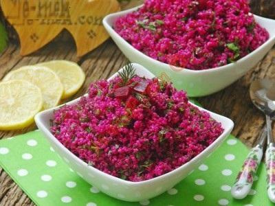 خوراک بلغور خوش آب و رنگ با لبوی قرمز!+عکس