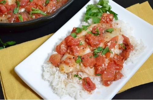 تیلاپیلا با سس گوجهفرنگی لذیذ و آسان! +عکس