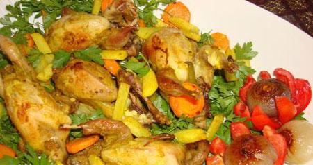 خوراک بلدرچین مقوی و لذیذ +عکس
