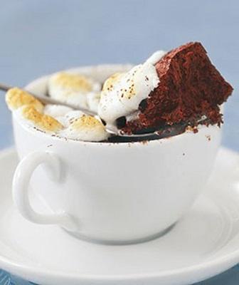 عصرانه ای دلپذیر با کیک شکلاتی گرم! +عکس