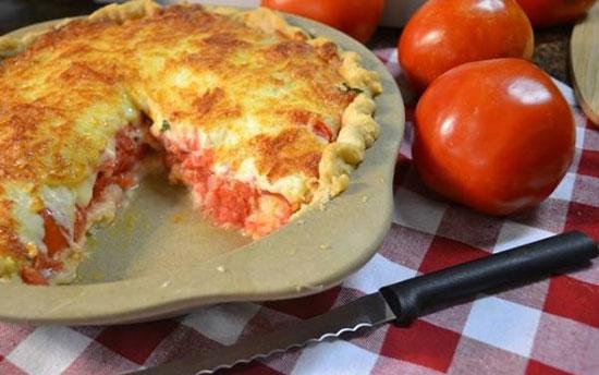 پای گوجه فرنگی ، غذایی بسیار خوشمزه، مخصوص گیاه خواران +عکس