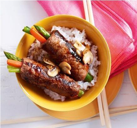 طرز تهیه کباب ژاپنی (بیف رول) فوق العاده! +عکس