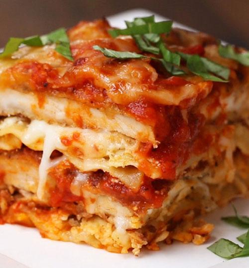 طرز تهیه لازانیای مرغ و پنیر عاشقش خواهید شد! +عکس