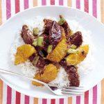طرز تهیه خوراک گوشت و پرتقال به سبک چینی  +عکس