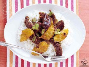 طرز تهیه خوراک گوشت و پرتقال