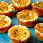 طرز تهیه مافین سیب زمینی پنیری میان وعده ای عالی و مقوی +عکس
