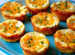 طرز تهیه مافین سیب زمینی پنیری