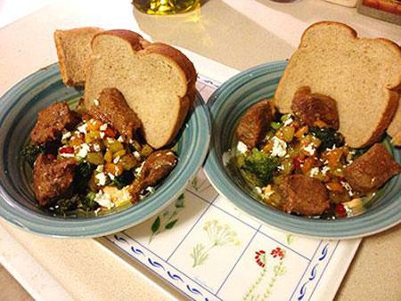 طرز تهیه خوراک گوشت و سبزیجات با طبخ مردونه! +عکس