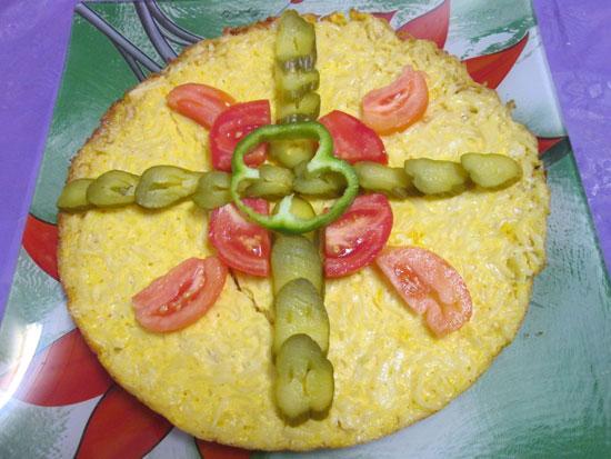 طرز تهیه کوکوی نودل با پنیر پیتزا خوشمزه و متفاوت +عکس