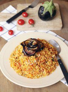 طرز تهیه استانبولی پلو با بادمجان