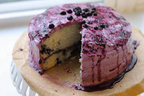 طرز تهیه کیک بلوبری ساده و متفاوت +عکس