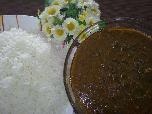 طرز تهیه خورش گردو اسفناج ، غذای محلی دامغان +عکس
