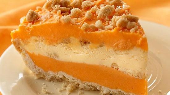 طرز تهیه ژله بستنی پرتقالی با بیسکویت +عکس