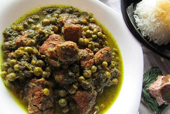 طرز تهیه خورش نخود سبز و شوید ، مناسب دیابتی ها +عکس