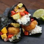 طرز تهیه سوشی با میگوی سوخاری +عکس