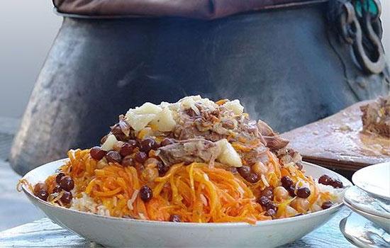 طرز تهیه پلوی بخارایی ، غذای معروف کشور ازبکستان +عکس