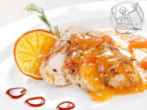 طرز تهیه سینه مرغ با سس پرتقال و عسل