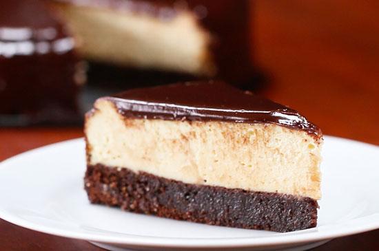 طرز تهیه چیز کیک براونی شکلاتی +عکس