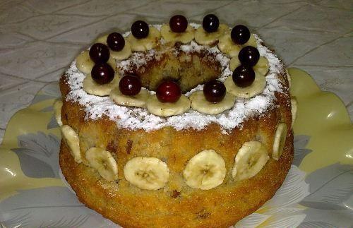 طرز تهیه کیک خانگی با طعم موز و گردو +عکس