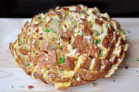 طرز تهیه نان پنیری رنگارنگ +عکس