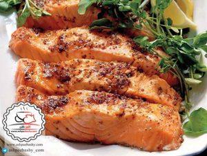 طرز تهیه ماهی سالمون با رویه خردل +عکس