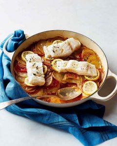 طرز تهیه ماهی با گوجه و سیب زمینی