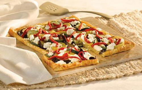 طرز تهیه تارت پنیر با سبزیجات +عکس