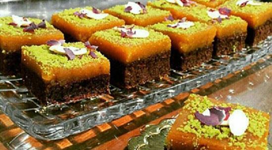 طرز تهیه کیک کاکائویی با تزئین حلوا +عکش