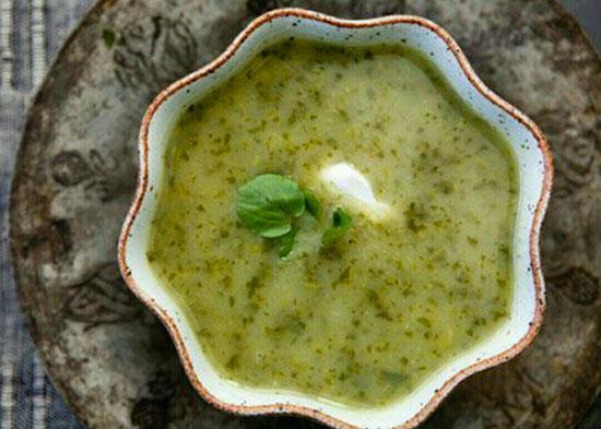 طرز تهیه سوپ آب تره +عکس