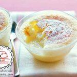 طرز تهیه کیک کاستارد لیمو +عکس