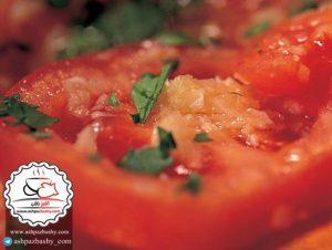 طرز تهیه سالاد گوجه فرنگی مصری