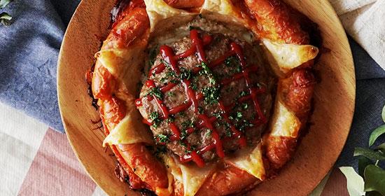 طرز تهیه پای همبرگر و سوسیس